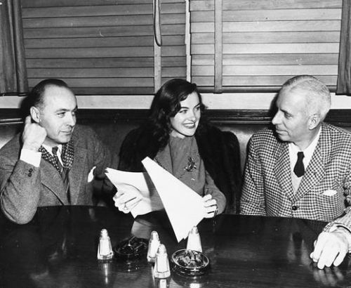 Howard Hawks with Charles Boyer and their latest discovery Ella Raines. He cast her in his latest production, Corvette K225, but she was seen to best advantage in the film noirs The Web, Phantom Lady and Brute Force. She was also cast opposite John...