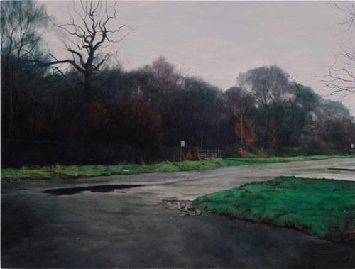 tumblr_mrf9z4Pm5Z1qfc4xho1_500 George Shaw, Landscape with Dog Shit Bin, 2010 Contemporary