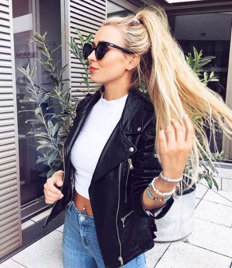 $28.13 Black leather jacket. Order »here« !