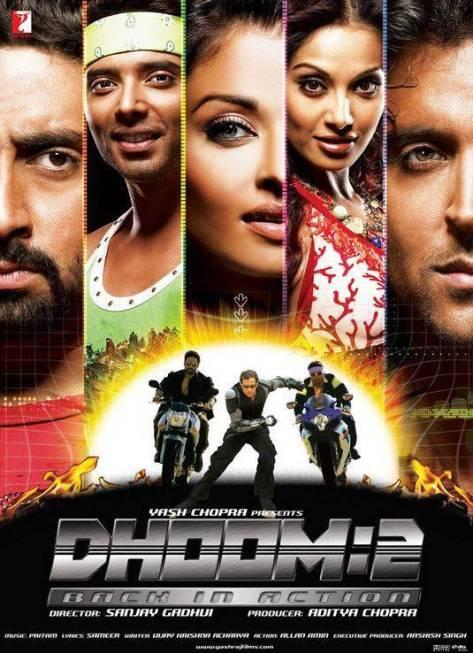 Hrithik Roshan,Aryan,Sunehri,Aishwarya Rai,Shonali Bose,Sweety,Abhishek Bachchan,Jai,Ali Aishwarya Rai,Bipasha basu,Uday Chopra,2006,152 Dak.,Hindistan,Hintçe,Dhoom 2,D:2, D2,Dhoom 2: Back In Action,Sanjay Gadhvi,Aditya Chopra,Yash Chopra,Dhoom Serisi,
