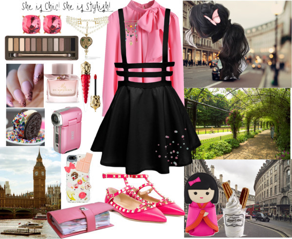 Brit chic by lucilxlu featuring a bow blouse