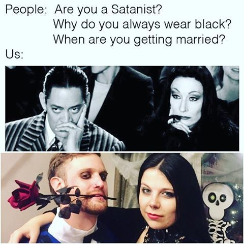 Image result for morticia and gomez memes