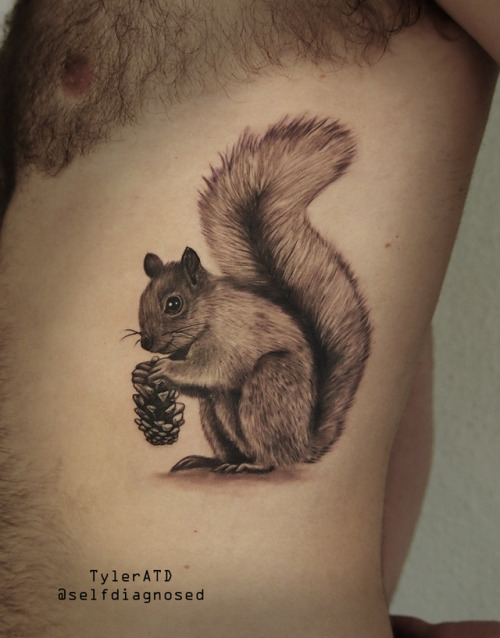 tumblr oxb88m8pA41qzabkfo1 500 - Squirrel tattoo by Tyler ATD Whistler, Canada insta:...