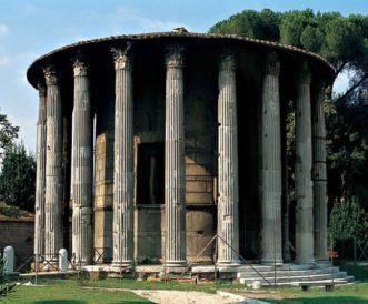 Templo circular de Vesta, diosa del hogar, en Roma