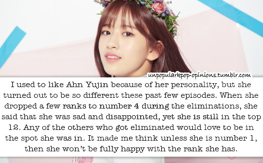 I used to like Ahn Yujin because of her pers… – KPop Fan