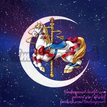 Sailor Moon carousel horse
