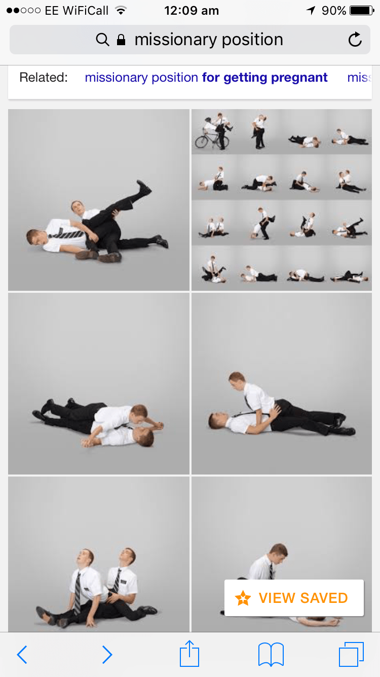 The updated missionary position