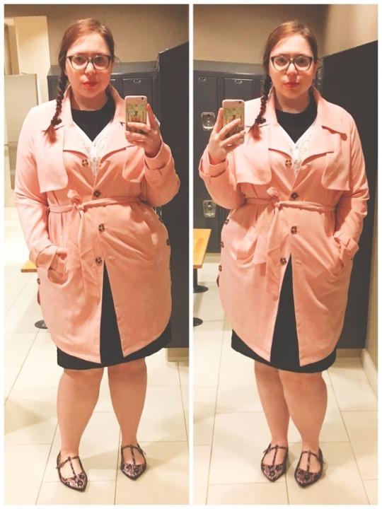 Dia&Co blush trench coat