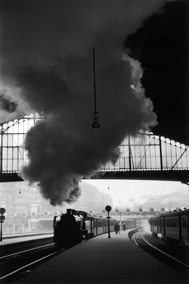 Edouard Boubat Train Arriving At The Station Photography