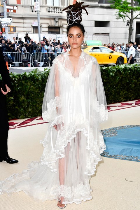 Sasha Lane attends the 'Heavenly Bodies: Fashion & The Catholic Imagination' Costume Institute Gala at The Metropolitan Museum of Art in New York City (May 7, 2018).