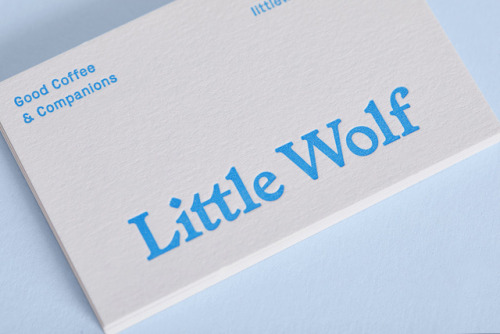 """tumblr_p2sk00vEWv1r5vojso8_500 Emblem Id for Little Wolf Espresso by way of Perky Bros.""""Little Wolf... Design"""