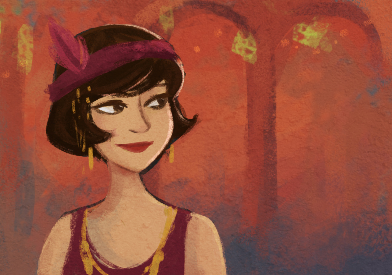 Flapper girl! Trying to figure out the style for a possible animated short