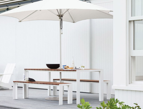 tumblr_pcq7d7rCws1qfx0suo1_500 stua:STUA Deneb table and benches. Perfect for your garden or... Contemporary