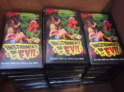 The movie premiere was a success, and now the last remaining copies of our #InstrumentsOfEvil limited edition #VHS are now on #SALE! Head over to store.videonomicon.com and grab one before they are gone for good! #Videonomicon #VHSCU