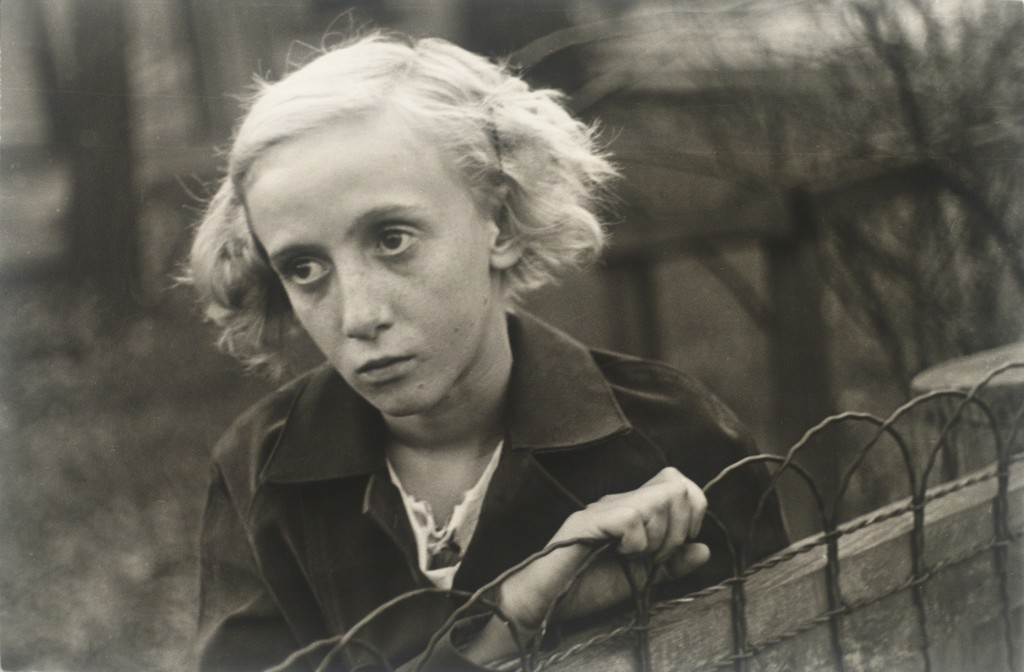 "themodernartists: ""Walker Evans (1903-1988), [Girl Leaning on Wire Fence in Yard, Vicinity Bethlehem, Pennsylvania], 1935. Gelatin silver print. """