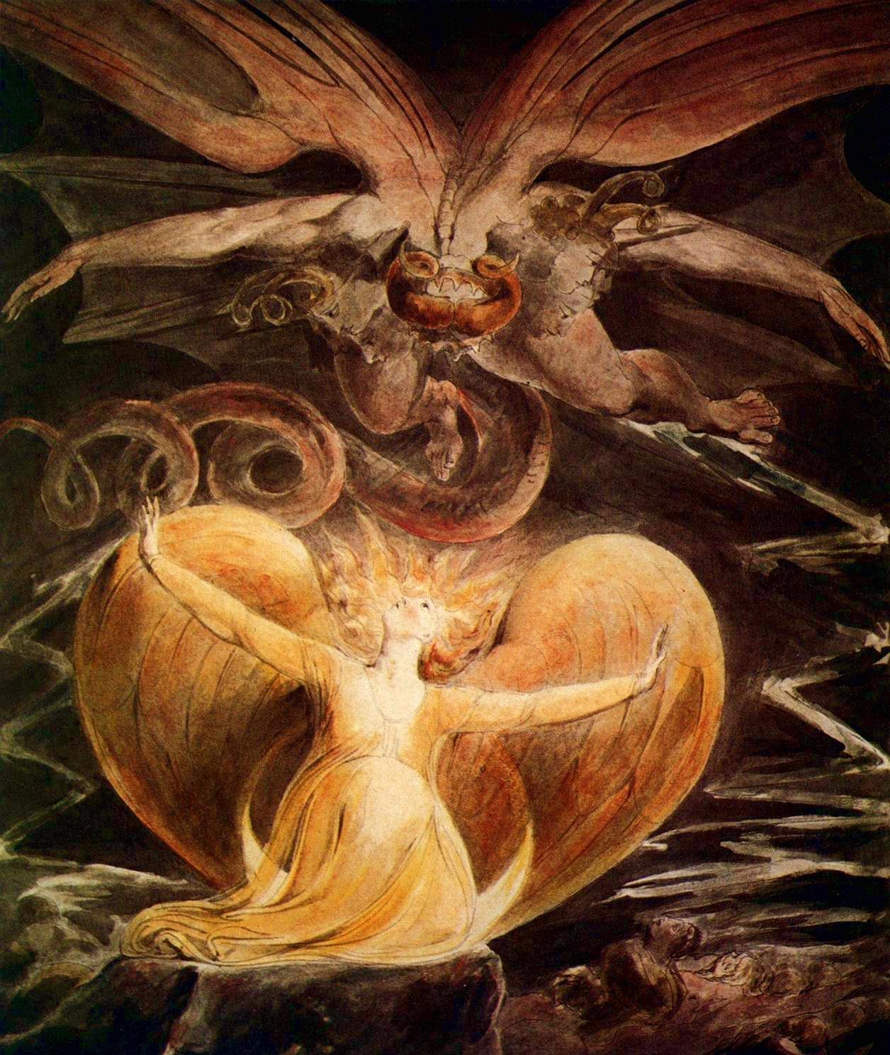 """Résultat de recherche d'images pour """"grand dragon rouge et la femme vêtue"""""""