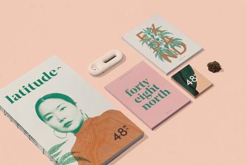 "tumblr_pdbh6xsGPp1r5vojso5_500 Brand identity for 48North by Blok Design""48North, a bold female... Design"