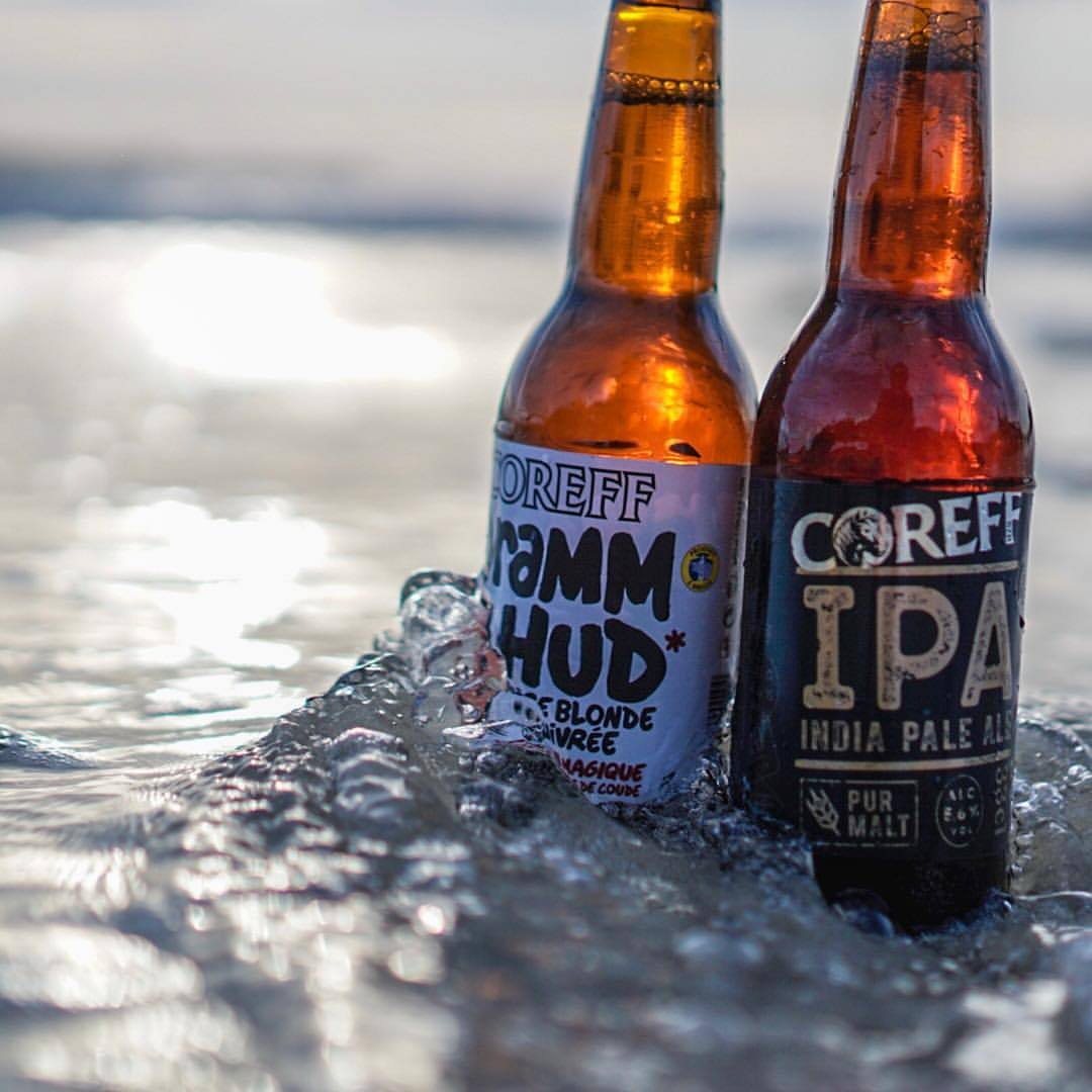 You do not have to drink wine in france just because you are in france 🍻🇫🇷 #beer #craftbeer #france #brittany #breizh #coreff #drammhud #ipa #blonde #sundown #beach (hier: Le dossen, Santec)