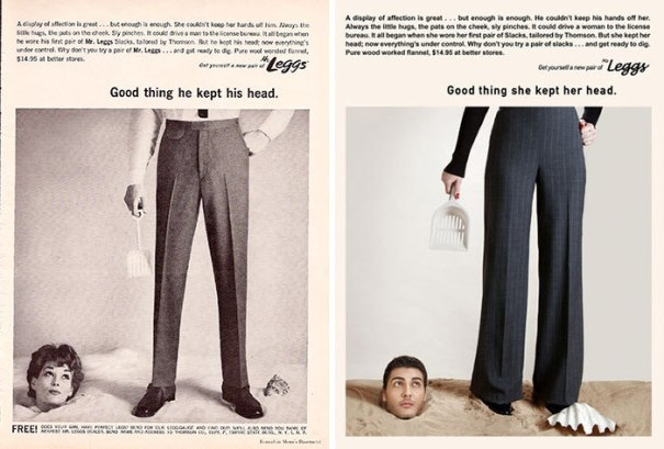 """a8981dbcc Photographer flips gender roles in """"Mad Men"""" era ads"""