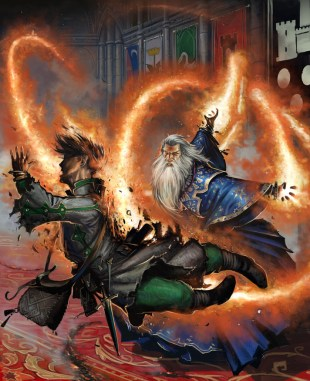 Image result for wizard shooting fire dnd