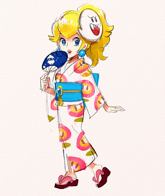 michellechang:Official Concept Art of Yukata Peach in Super… – Gaming