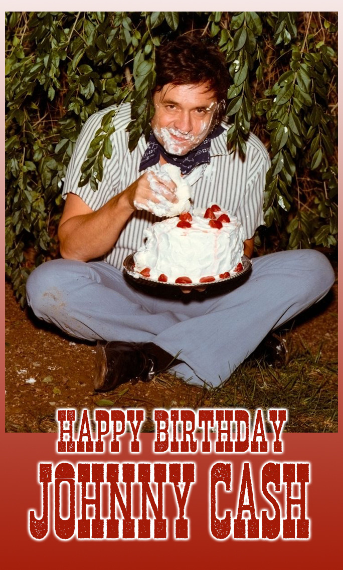 Shopmidnightrider Happy Birthday Johnny Cash February 26th