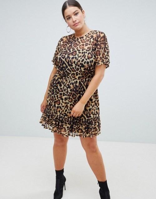 mesh leopard dress, Girly Grunge