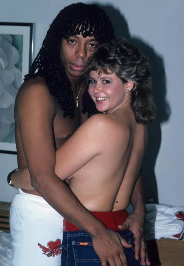 Rick James and Linda Blair (1982) In his po… – Pop Culture