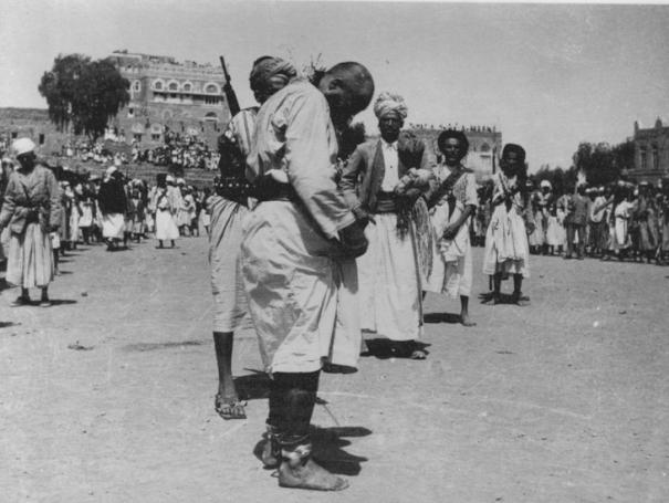 Public execution by sword, Yemen circa 1962 vi…