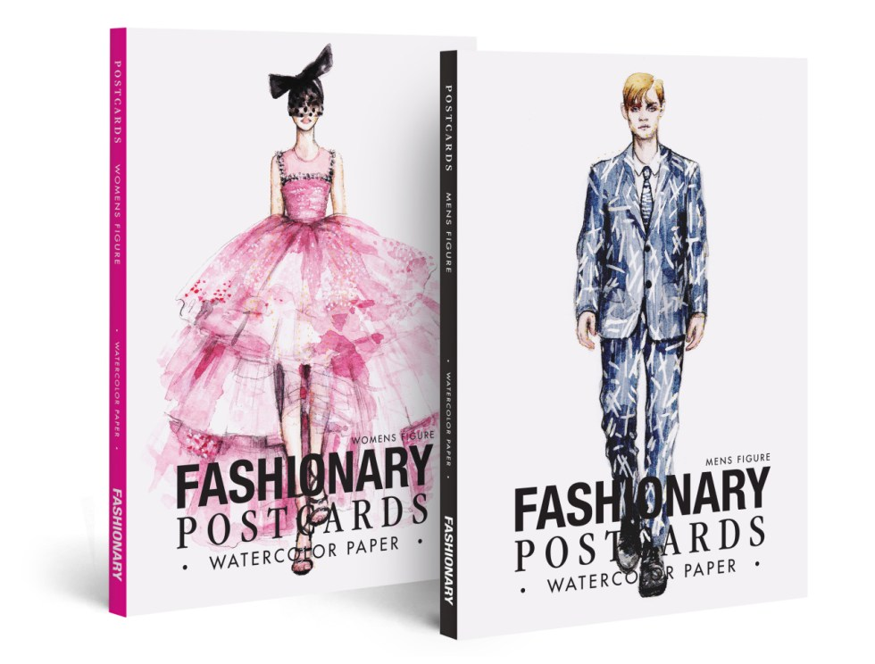 Fashionary Watercolor Postcard Book Want to ...