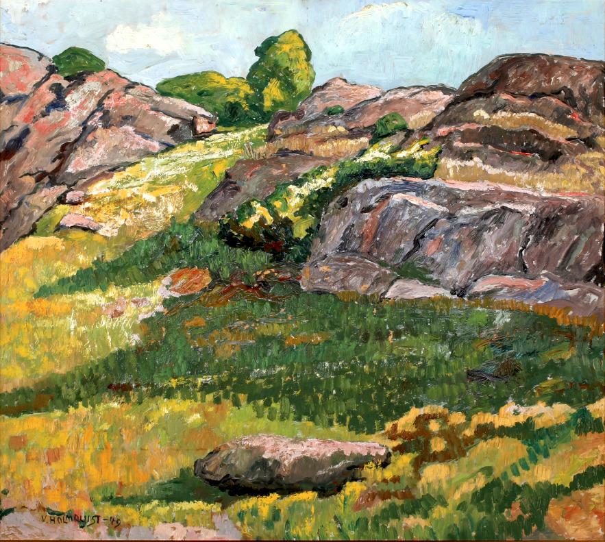 """bofransson:""""VERNER HOLMQUIST - Landscape with Hill"""""""