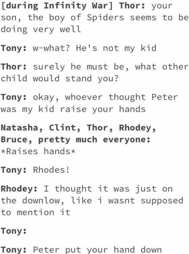 son peter parker – Avengers