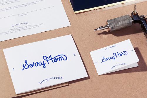 "tumblr_pa3bruz38j1r5vojso6_500 Brand Identity for Sorry Mom Tattoo Studio""Identity project for... Design"