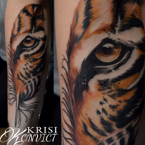 tumblr p0vl584jyH1qzabkfo1 500 - Tiger eye mashup by Krisi Konvict  @ Foundation Arts in...