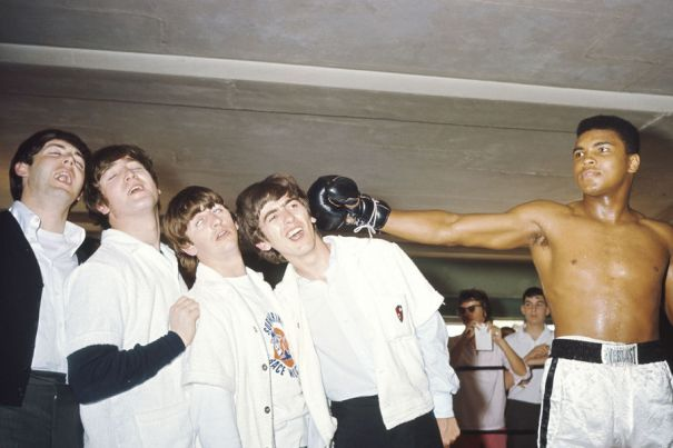 The Beatles meet Muhammad Ali at 5th street gym in Miami