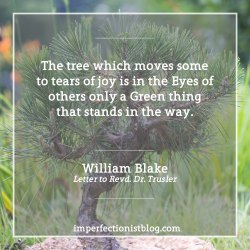 """#42 - """"The tree which moves some to tears of joy is in the Eyes of others only a Green thing that stands in the way."""" -William Blake"""