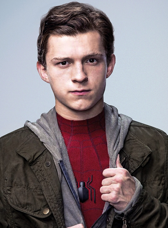 Tom Holland As Peter Parker During A Promotional Shoot For