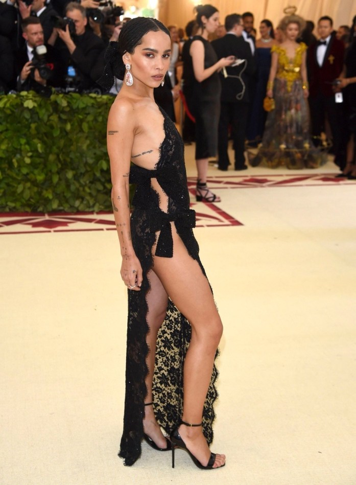 Zoë Kravitz attends the 'Heavenly Bodies: Fashion & The Catholic Imagination' Costume Institute Gala at The Metropolitan Museum of Art in New York City (May 7, 2018).