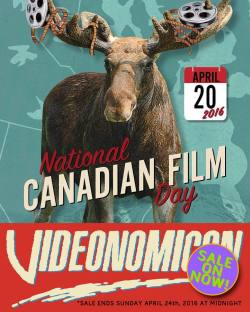 We're having a #SALE since it's #NationalCanadianFilmDay up here, and all but one of our releases are Canadian films! So save big on some #DVDs and limited edition #VHS (including the lone American film)! Sale runs now through midnight Sun. April 24th, 2016! Link in bio! #Videonomicon