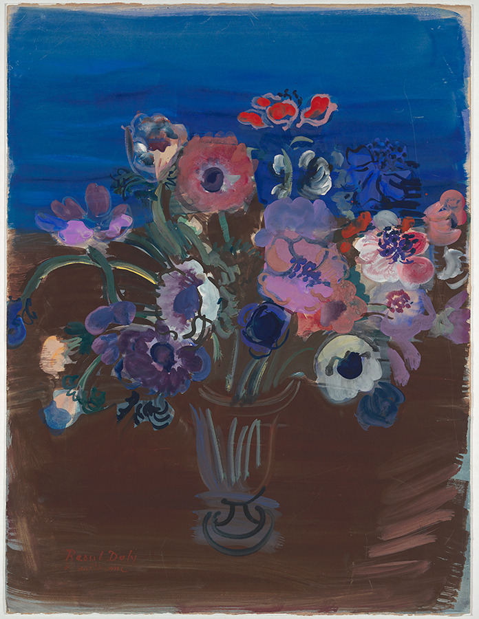 """amare-habeo: """"  Raoul Dufy (French, 1877 – 1953) Anemonen, N/D Gouache on paper """""""