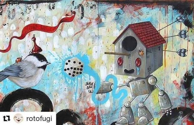 #Repost @rotofugi (@get_repost) ・・・ Transitionary New Works by James 'Jimbot' Demski January 6-28, 2018  BYOB Opening Reception Saturday, January 6, 7-10pm  We kick off a new year with one of our favorites, Milwaukee-based artist James 'Jimbot' Demski