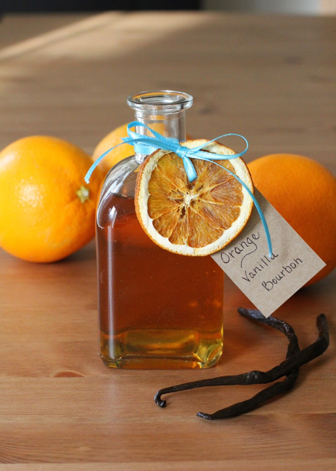 Holiday Gifts DIY Infused Alcohols Navel Orange Vanilla Infused Bourbon