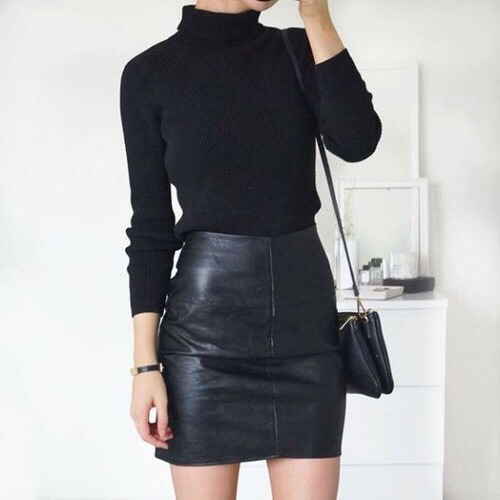 $7.40 Black leather skirt. Order it »here« !