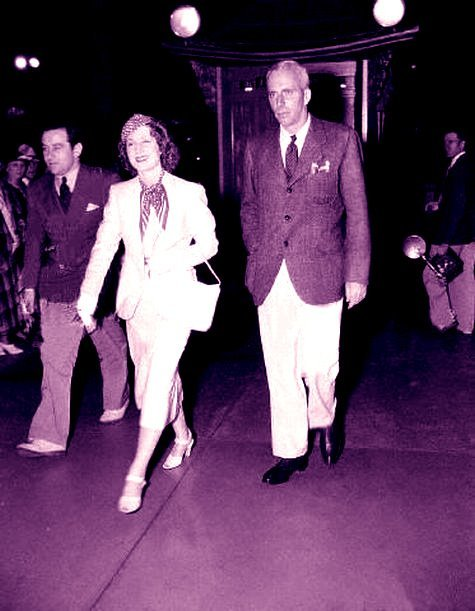 Howard Hawks with his sister-in-law Norma Shearer