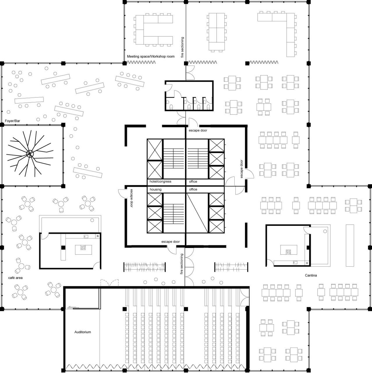 Black Amp White Plans 549 Sky Village Mvrdv