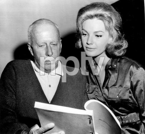 Howard and Hawks and Maria Perschy on the set of Mans Favorite Sport. Maria is doing her best Lauren Bacall impression.
