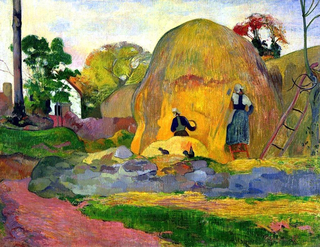 """bofransson: """" Golden Harvest - Paul Gauguin - 1898 """""""