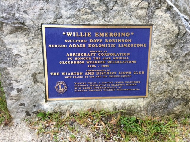 Plaque commemorating Wiarton Willie