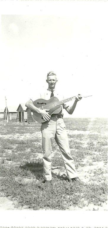 Gordon with his guitar