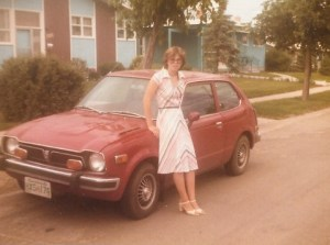 Colleen with her Honda